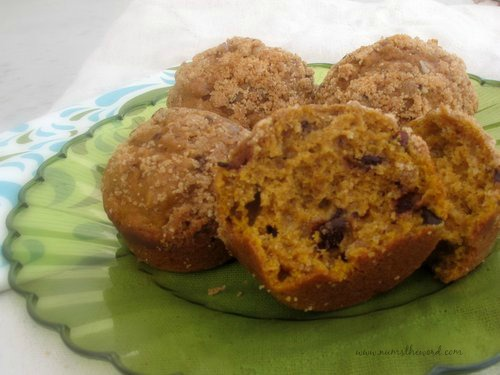 Pumpkin Pecan Pie Chocolate Chip Muffins