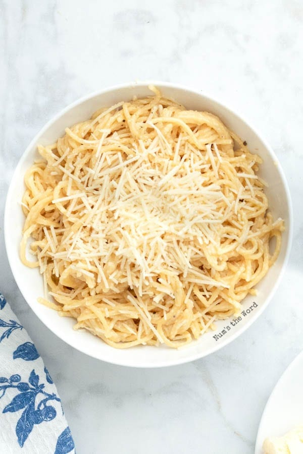 Garlic Spaghetti - large bowl of pasta