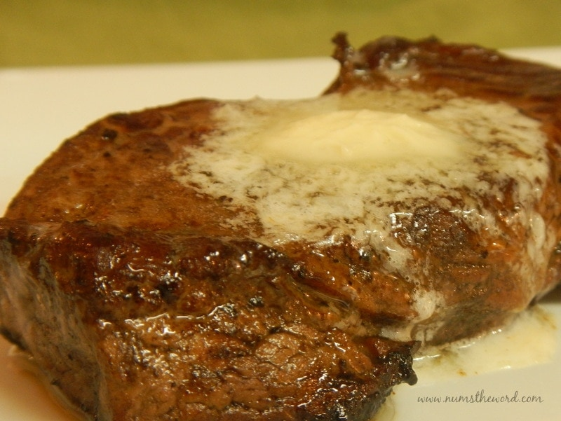 Pan Fried Steaks with Garlic Butter - NumsTheWord