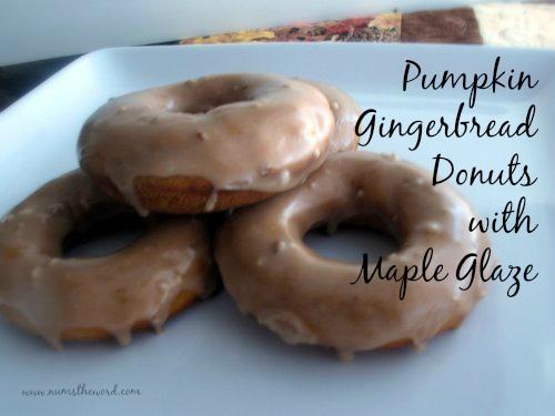 Pumpkin Gingerbread Donuts