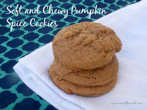Soft and Chewy Pumpkin Spice Cookies