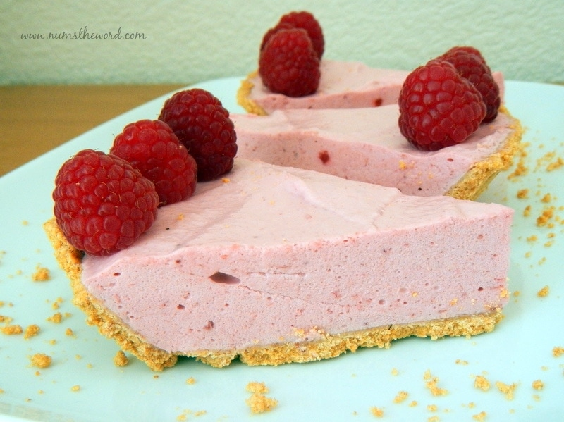 Raspberry Mousse Pie - NumsTheWord