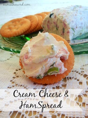 cream cheese and ham spread