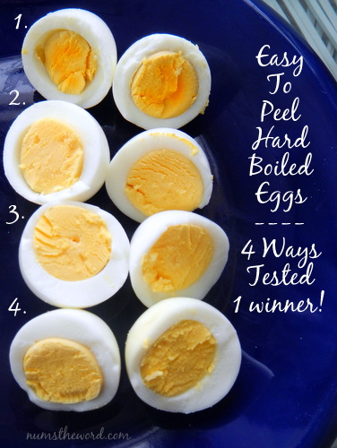 easy to peel hard boied eggs