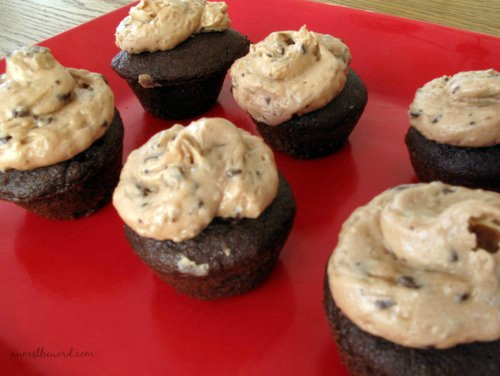 Chocolate Coconut Cupcakes with Mounds Frosting