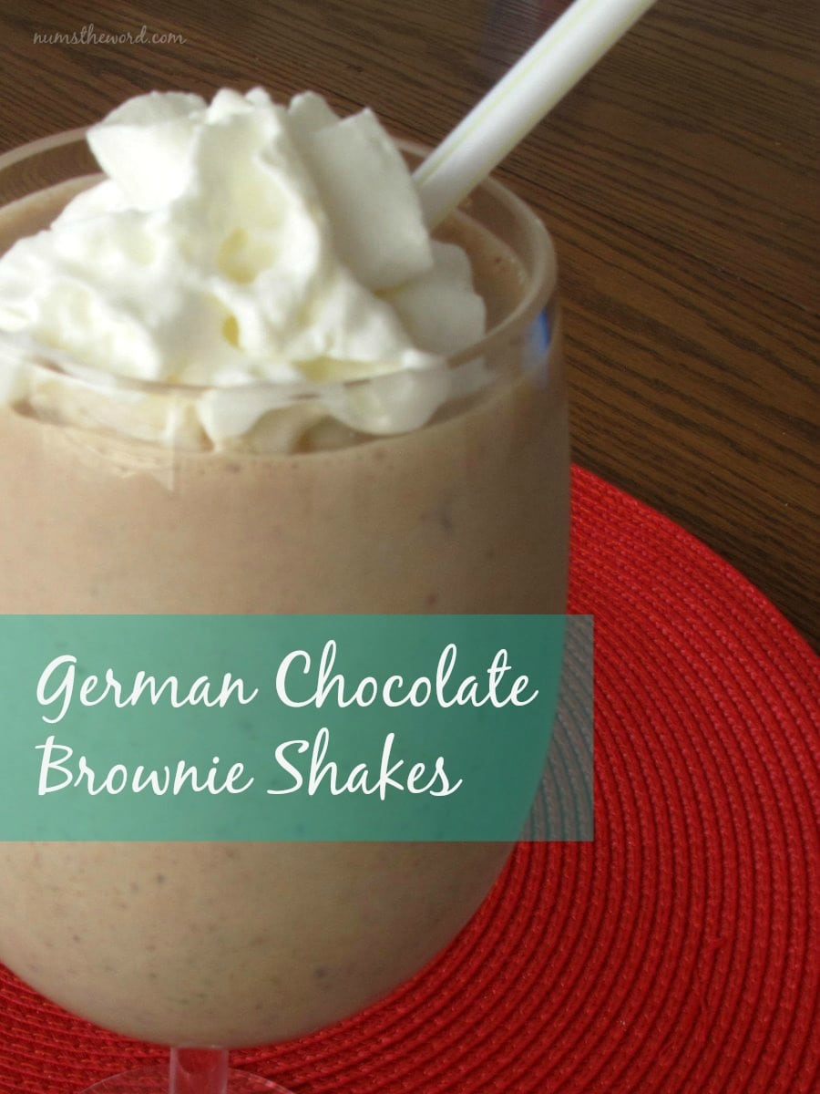 German Chocolate Brownie Shakes
