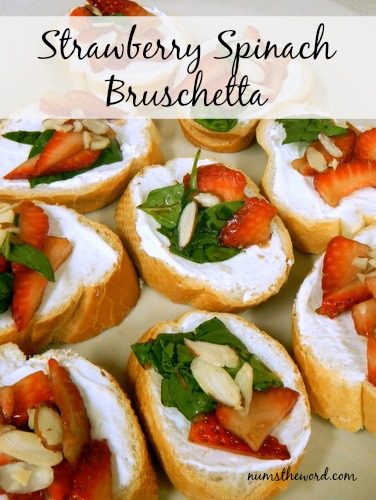Strawberry Spinach Bruchetta