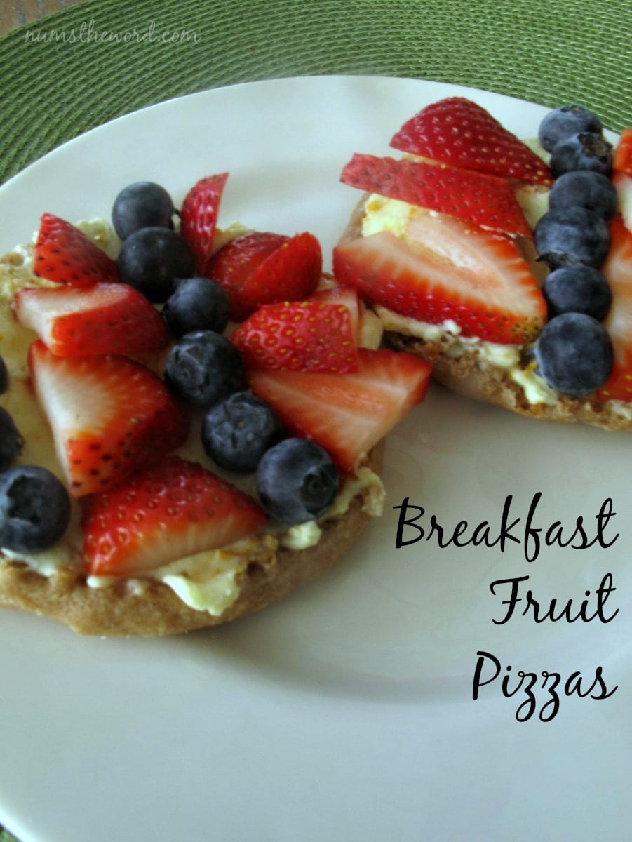 Breakfast Fruit Pizzas