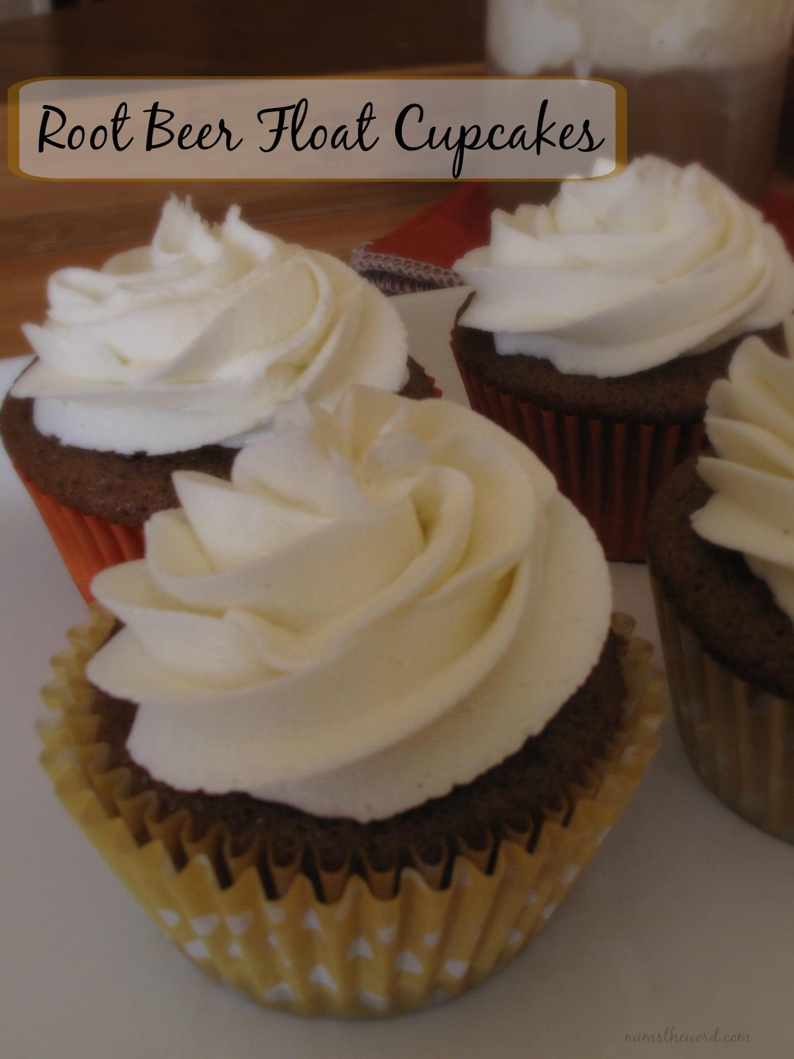 Root Beer Float Cupcakes - NumsTheWord