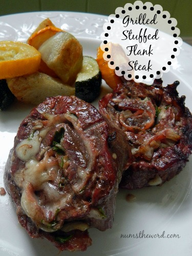 Grilled Stuffed Flank Steak - Main image for recipe of grilled steaks ready to be eaten