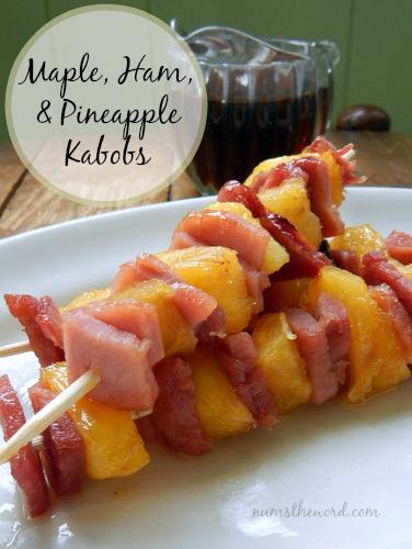 Maple Ham & Pineapple Kabobs