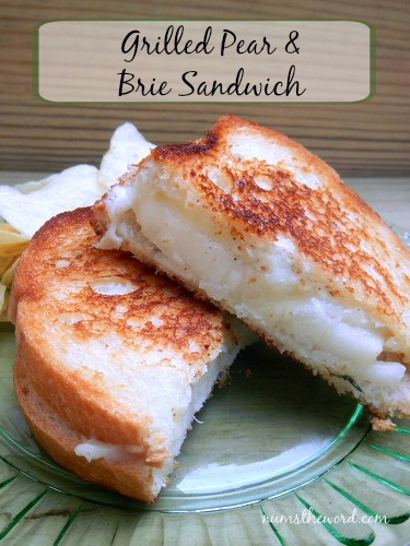 Griled Pear & Brie Sandwich