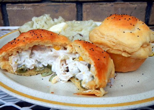 Chicken Pot Pie Biscuits
