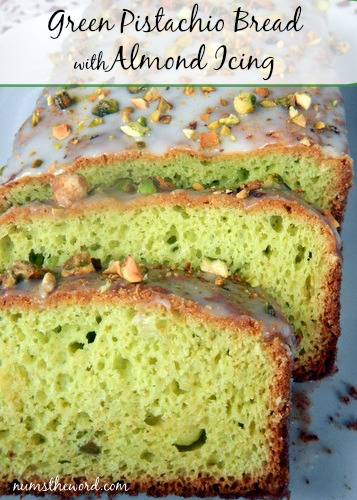 Pistachio Bread with Almond Icing