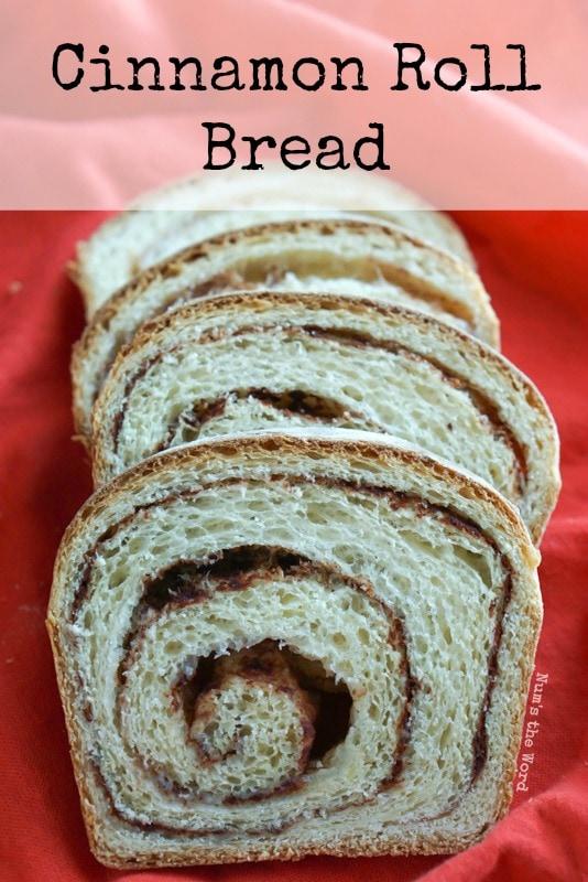 Cinnamon Roll Bread - Main image for recipe of sliced cinnamon roll bread