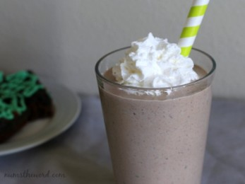 Mint Oreo Brownie Shakes