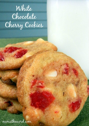 White Chocolate Cherry Cookies Recipe — Dishmaps