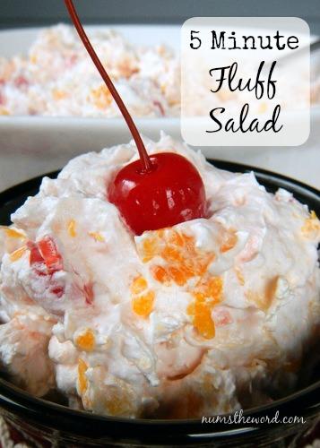 5 minute fluff salad