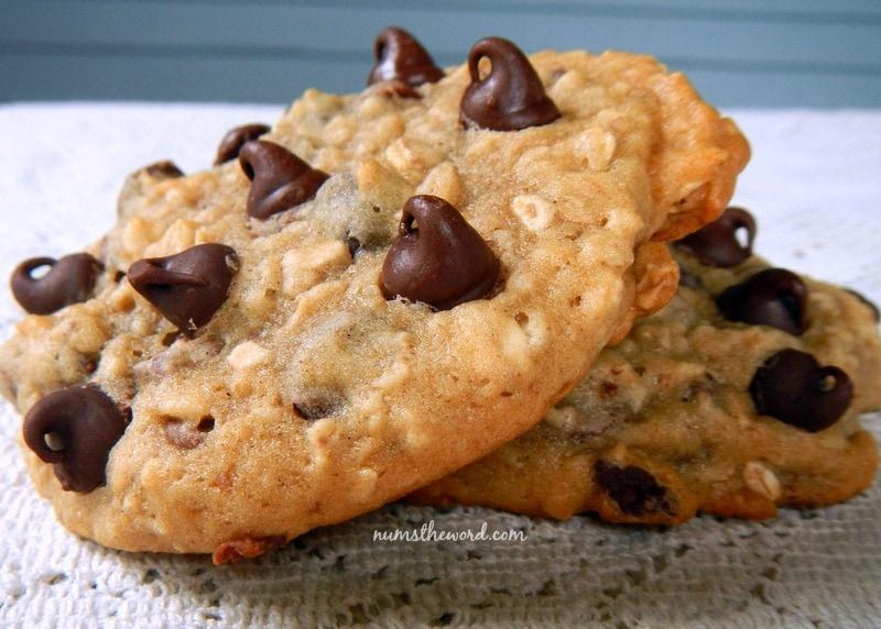 Banana, Oatmeal, Chocolate Chip Cookies