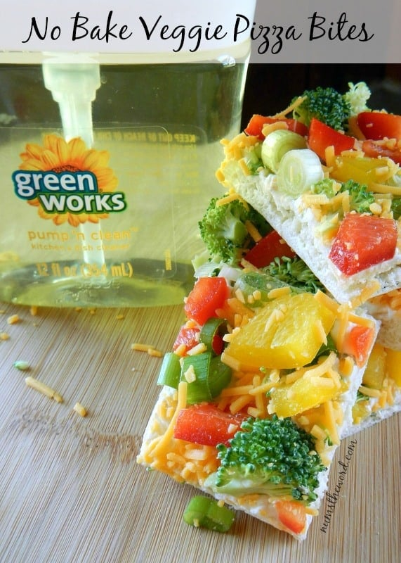 No Bake Veggie Pizza Bites