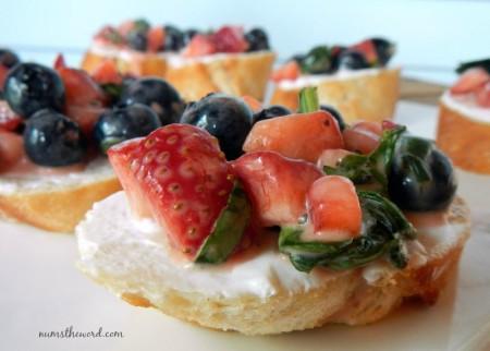 Strawberry Blueberry Poppy Seed Bruschetta