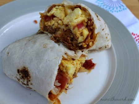 BBQ Bacon Breakfast Burrito