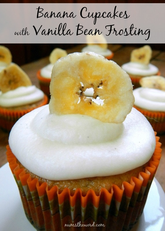 Banana Cupcakes with Vanilla Bean Frosting