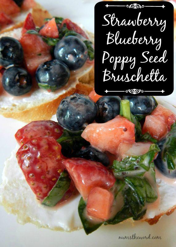 Strawberry Bruschetta Poppy Seed Bruschetta