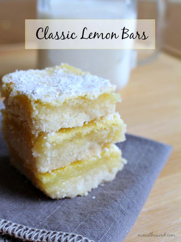 Classic Lemon Bars - NumsTheWord
