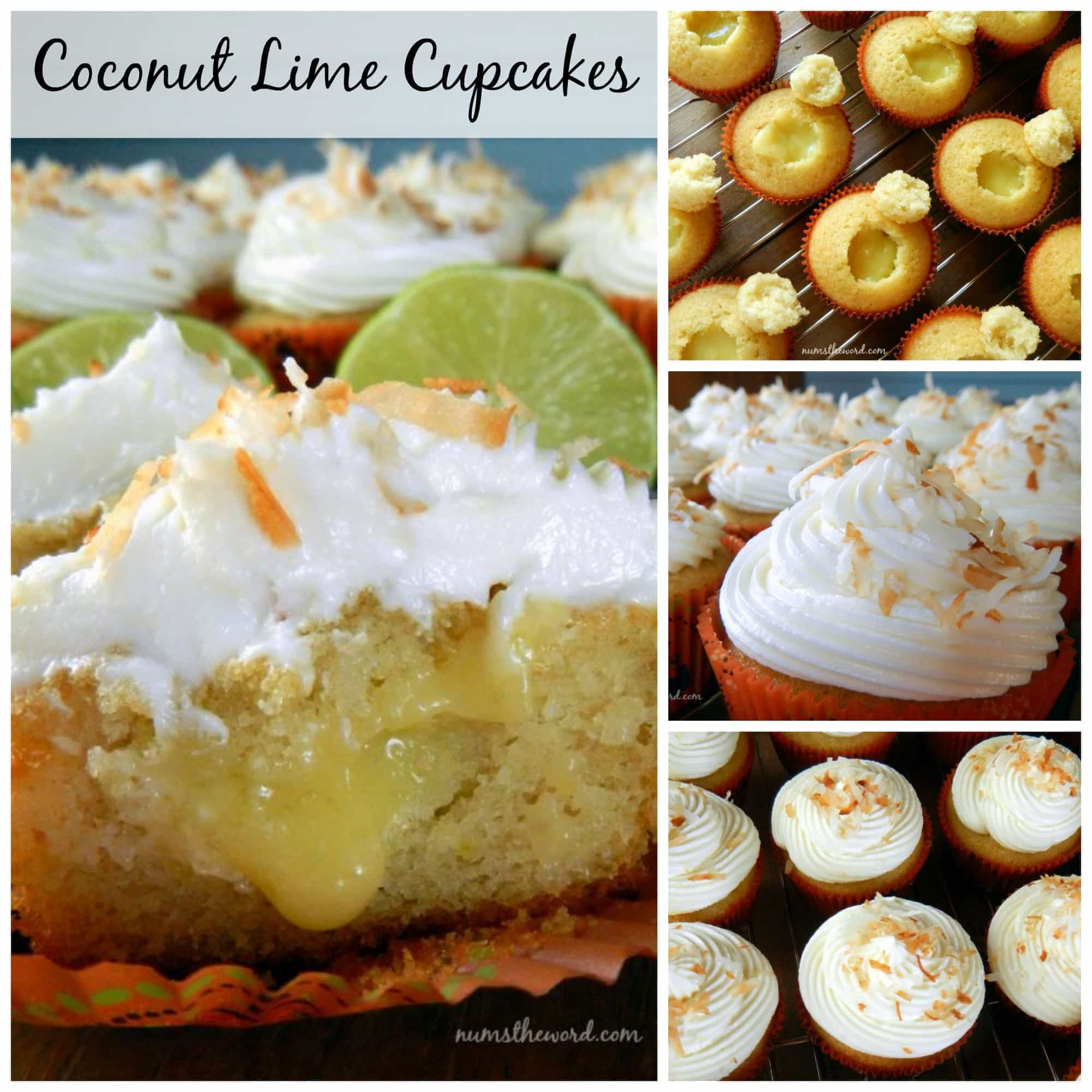 Coconut Lime Cupcakes - NumsTheWord