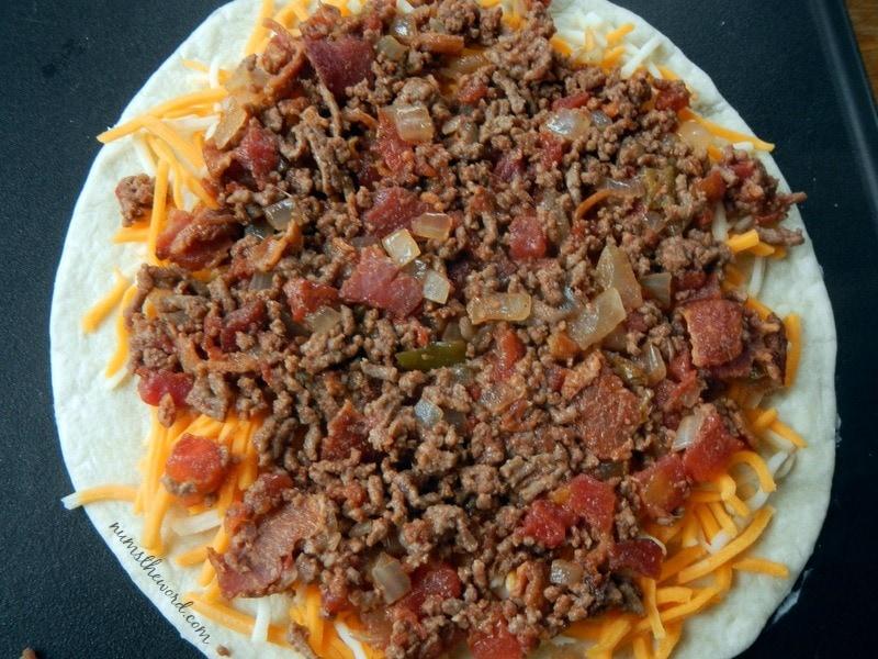 Bacon Cheeseburger Quesadilla