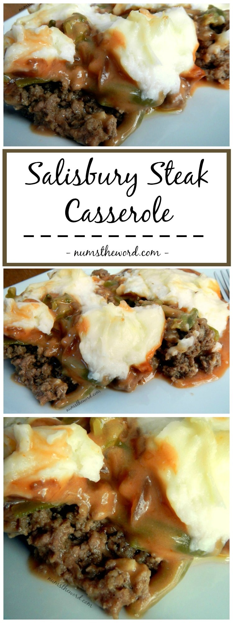 Salisbury Steak Casserole and Green Bean Casserole Collage for pinterst