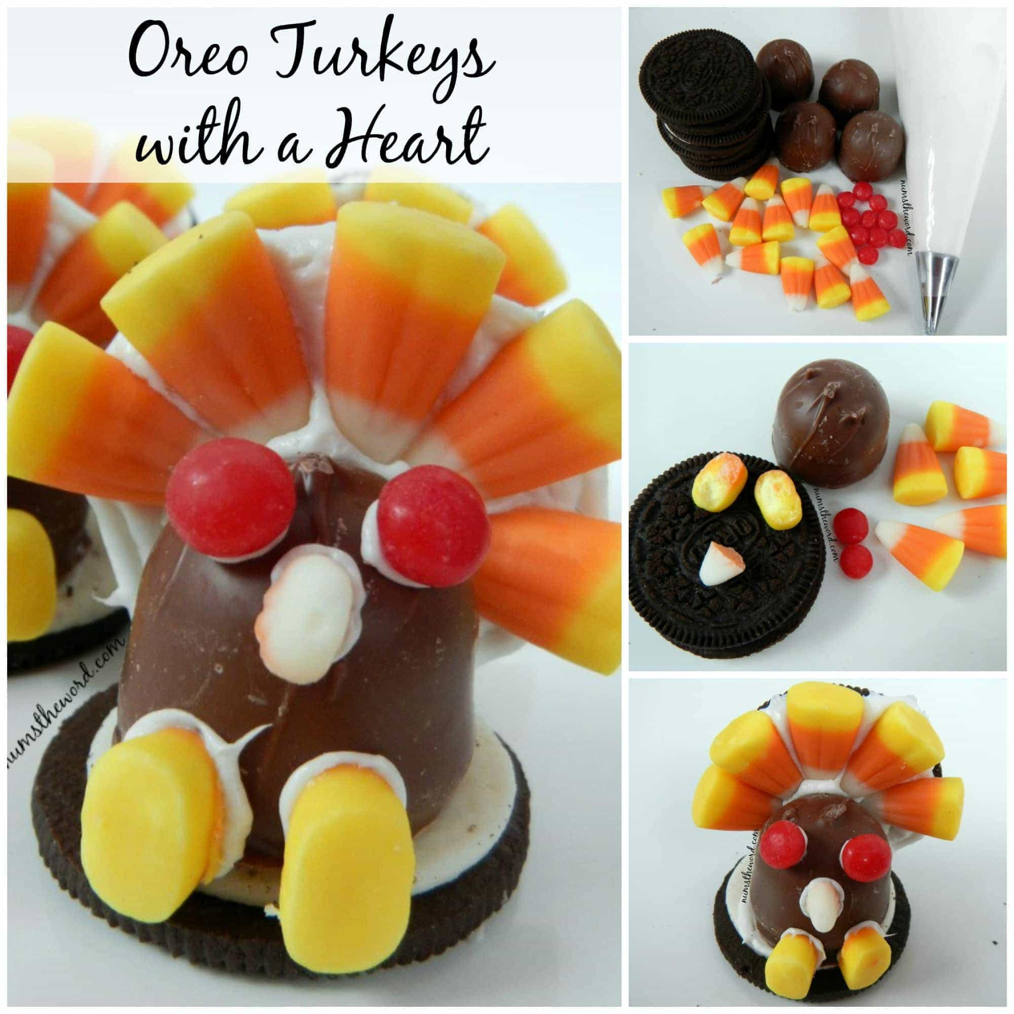Oreo Turkeys with a Heart