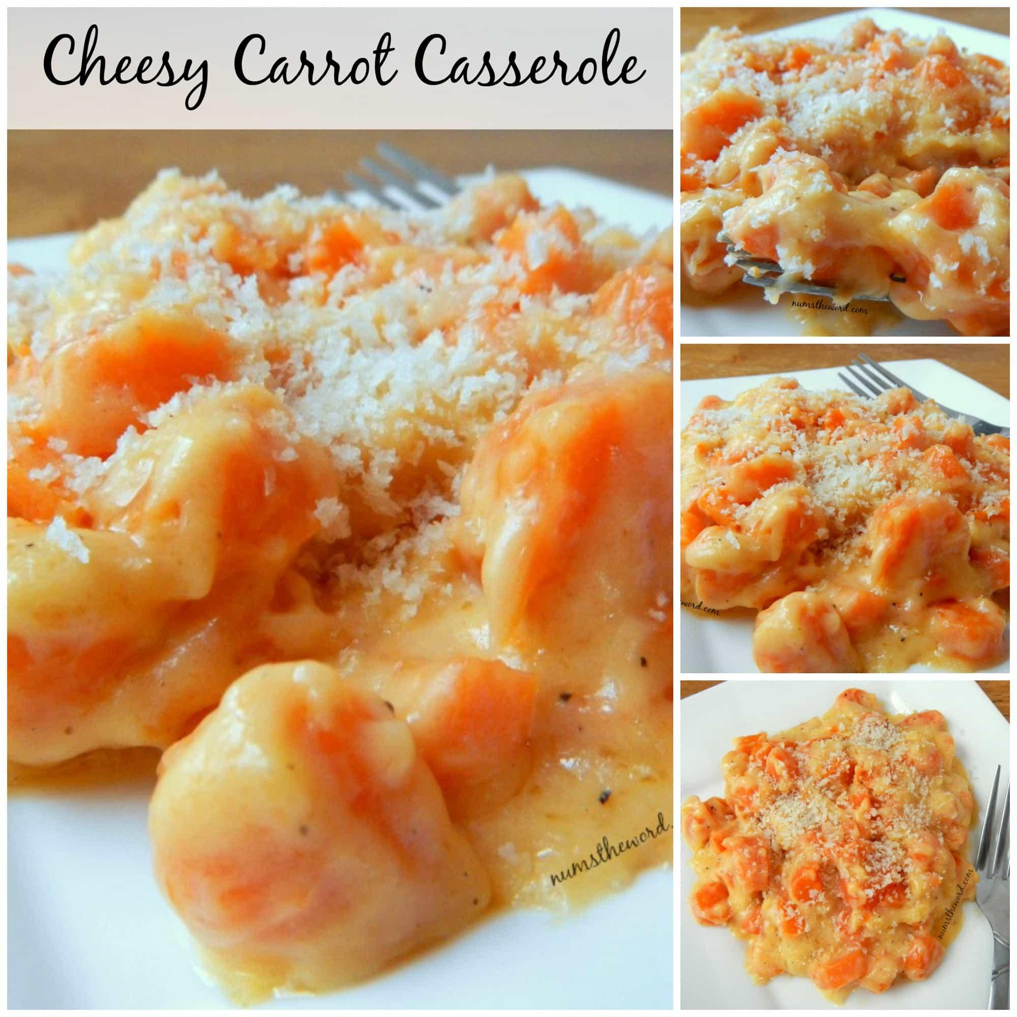 Cheesy Carrot Casserole - Facebook collage of photos