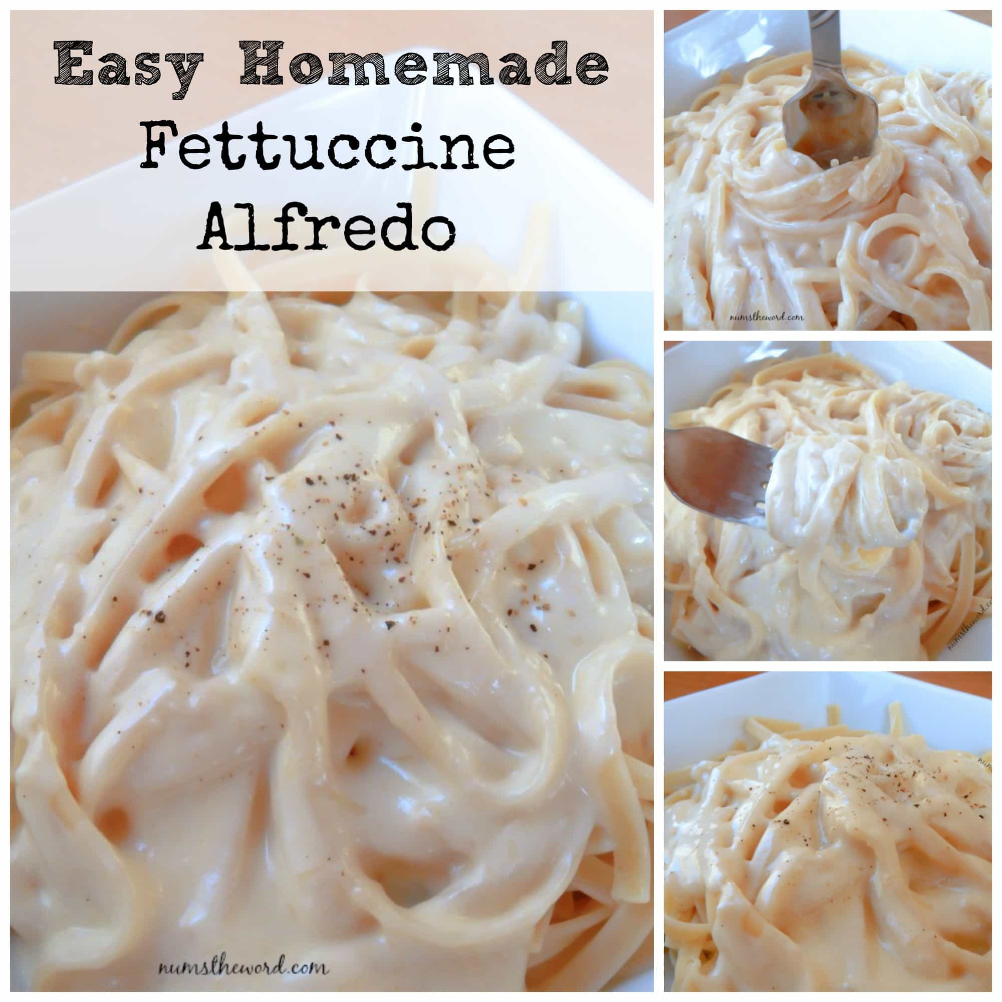 Easy fettuccine alfredo with heavy cream