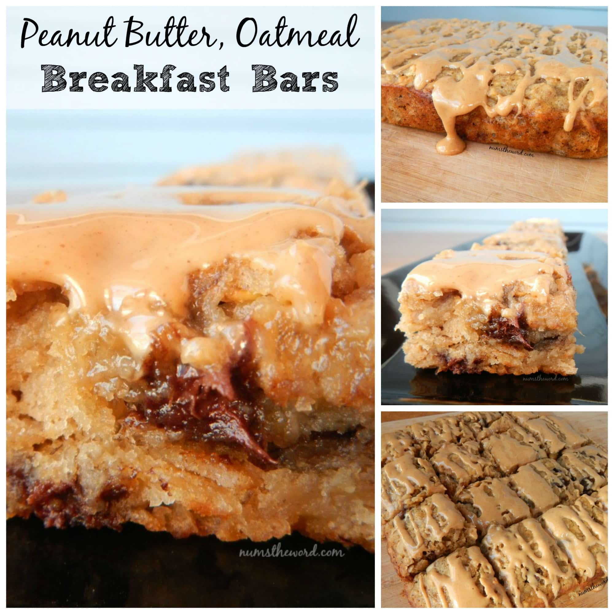 Peanut Butter Oatmeal Breakfast Bars
