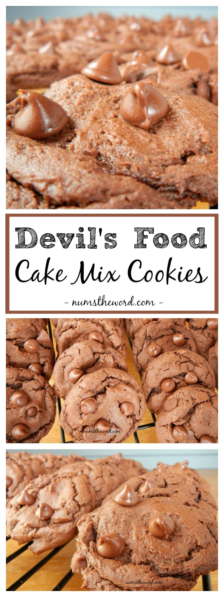 Devil's Food Cake Mix Cookies