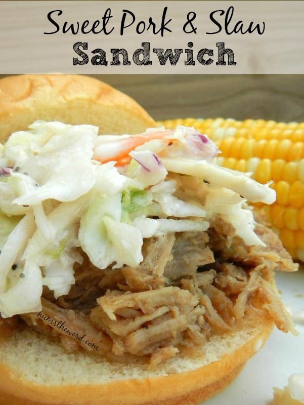 Sweet Pork & Slaw Sandwich