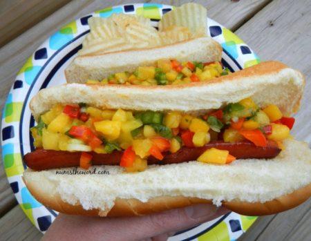 Mango Salsa Dogs
