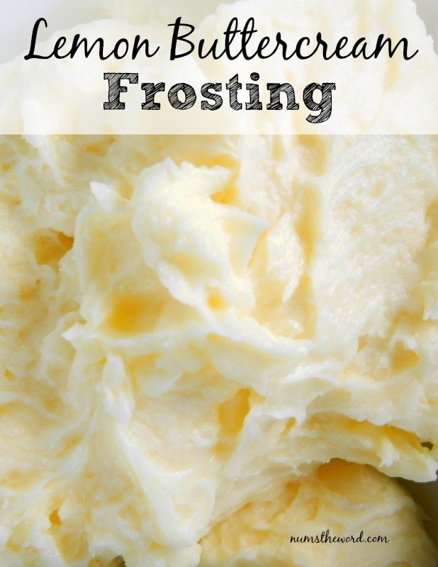Lemon Buttercream Frosting main image for website