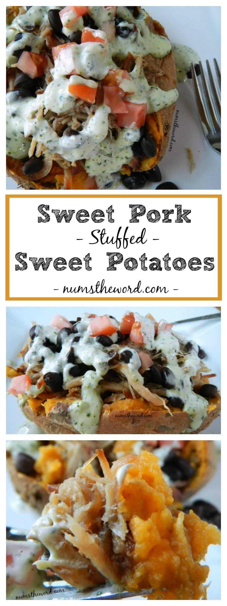 Sweet Pork Stuffed Sweet Potatoes