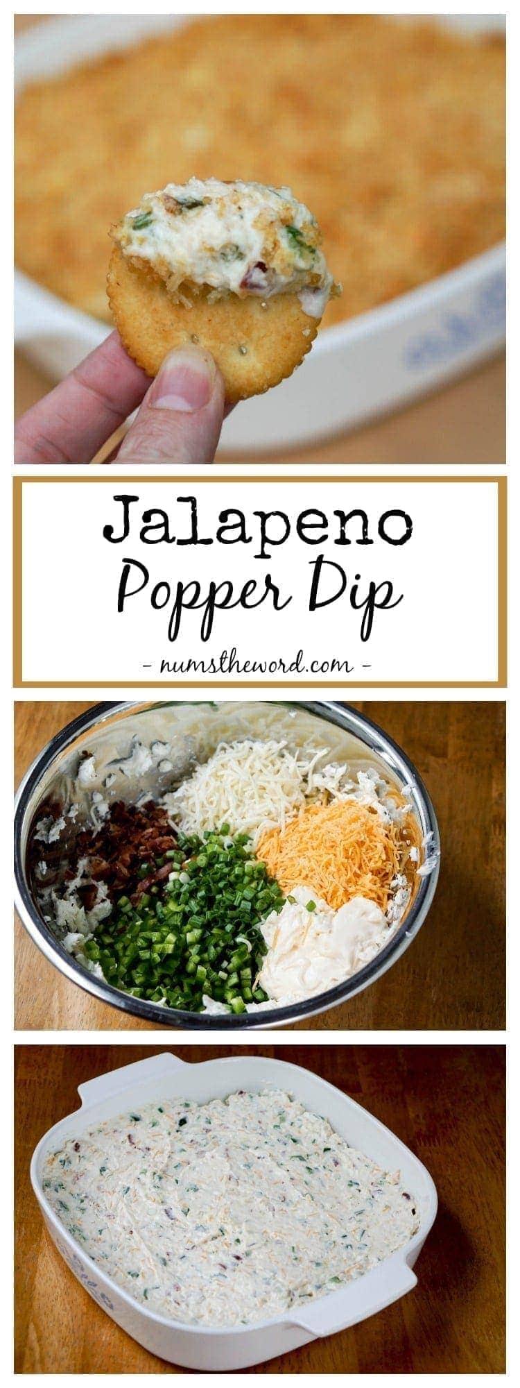 Jalapeno Popper Dip - Pinterest long pin collage