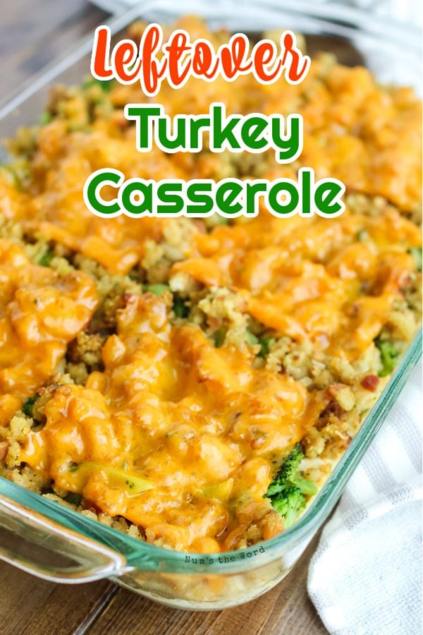 Turkey Casserole - main image for recipe of cooked casserole in dish ready to serve