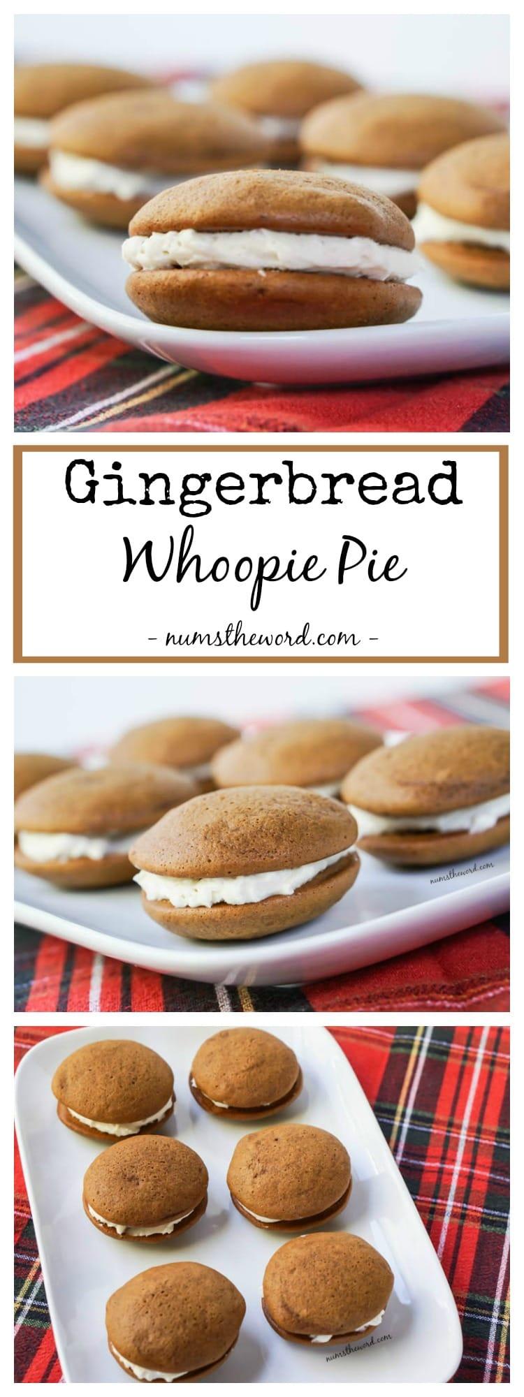 Soft Gingerbread Whoopie Pies