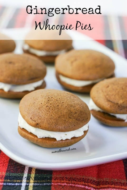 Soft Gingerbread Whoopie Pies - Main image for recipe of whoopie pies on a platter