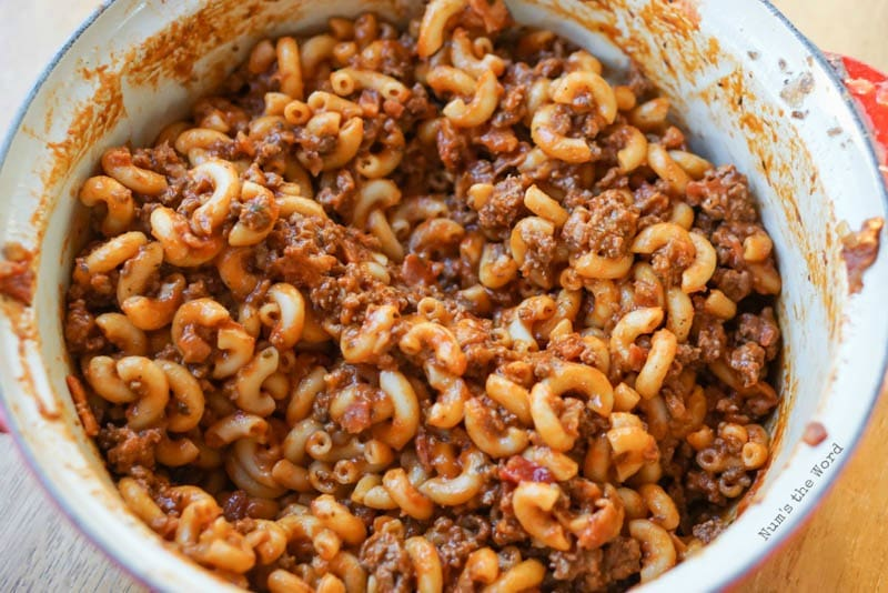 Bacon Cheeseburger Macaroni - NumsTheWord