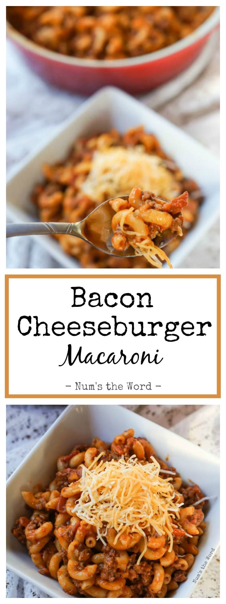 Bacon Cheeseburger Macaroni, will quickly become a staple in your home ...
