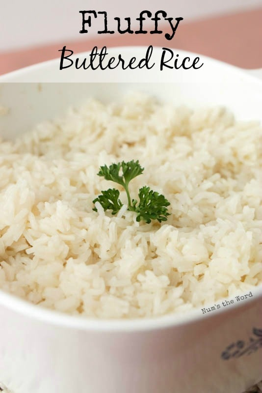 Fluffy Buttered Rice - Main image for recipe of rice in dish