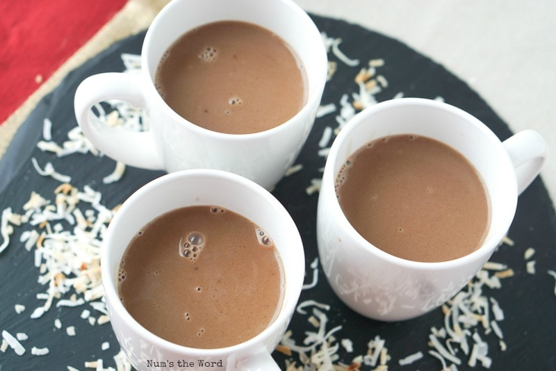 Thick & Creamy Coconut Hot Chocolate