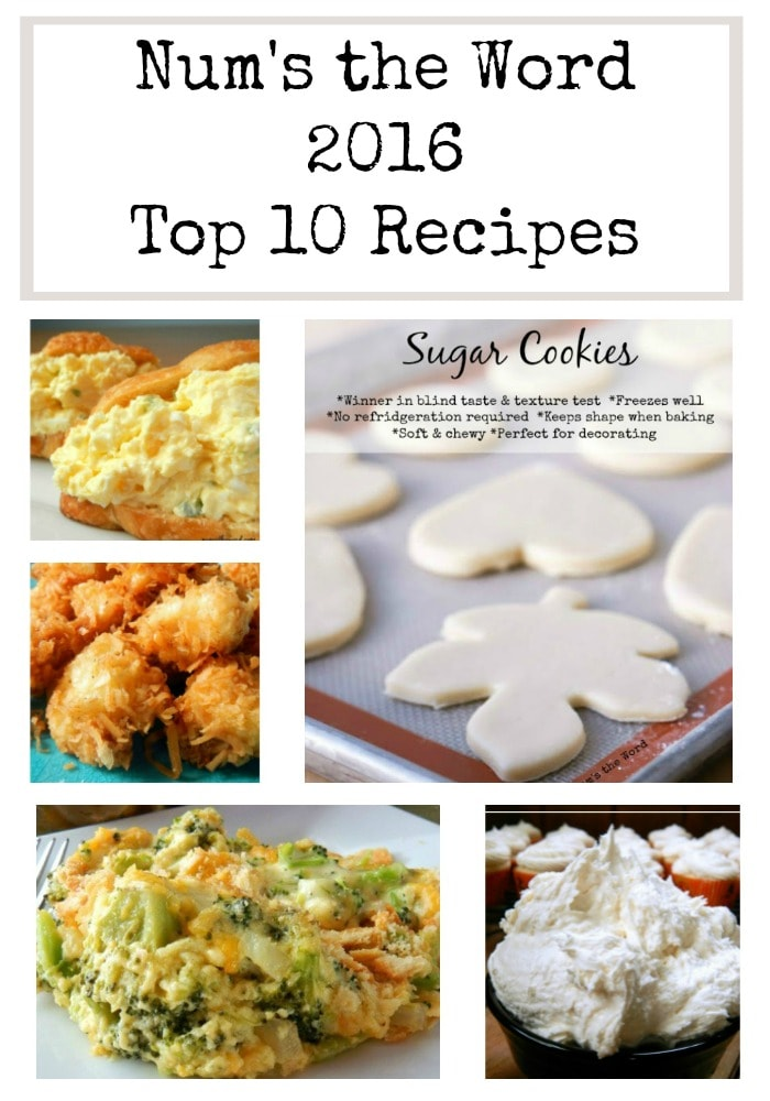 Top 10 Recipes of 2016
